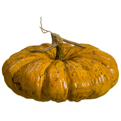 5.5 Inch Artificial Pumpkin Orange Brown