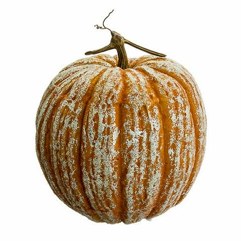 12.5 Inch Beaded Fake Pumpkin Orange