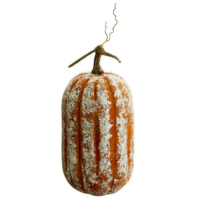 14.5 Inch Beaded Faux Pumpkin Orange