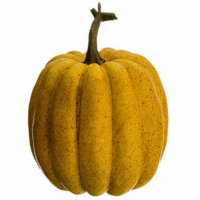 7 Inch Artificial Pumpkin Butterscotch