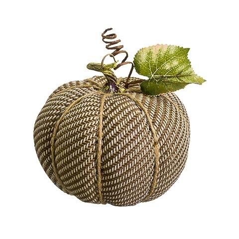 6 Inch Fake Pumpkin Beige