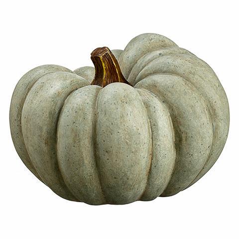 9 Inch Artificial Pumpkin Green