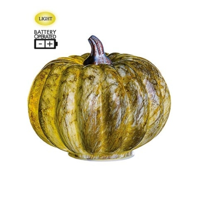 5.25 Inch Battery Operated Decorative Pumpkin With Light