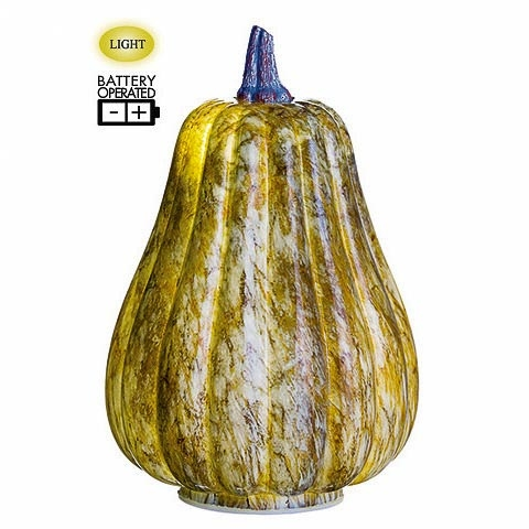 8.5 Inch Battery Operated Decorative Pumpkin With Light