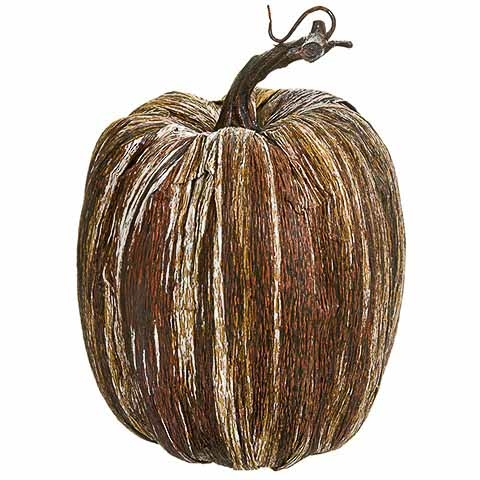6.25 Inch Faux Pumpkin Brown Whitewashed