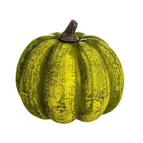 3.5 Inch Fake Pumpkin Two Tone Green