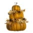 21 Inch Stacking Pumpkin With Berry Pine Cone Toffee Brown