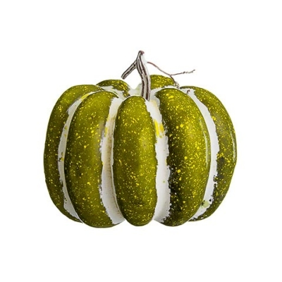 7.75 Inch Artificial Pumpkin Green Whitewashed
