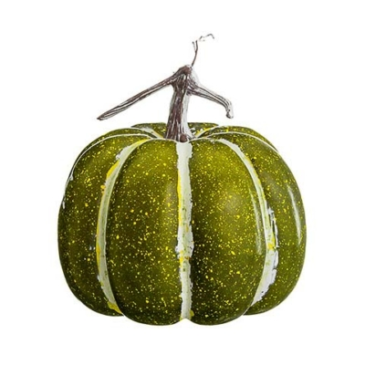 10 Inch Artificial Pumpkin Green Whitewashed