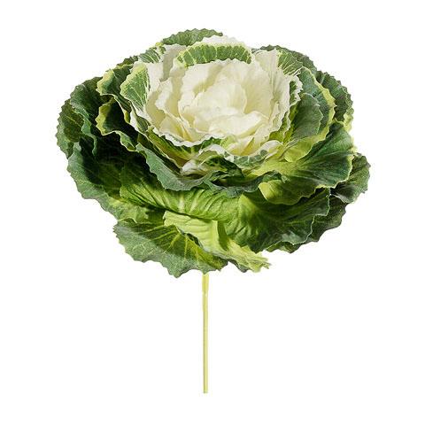 4 Inch Artificial Cabbage Pick Green Cream